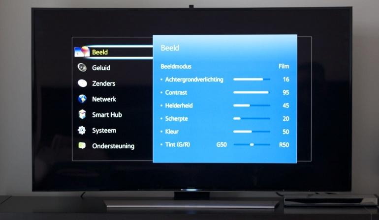 Samsung HU8500 review settings