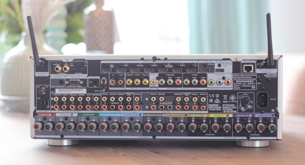 AV receiver connections