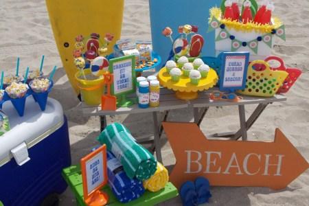 beach themed birthday favors