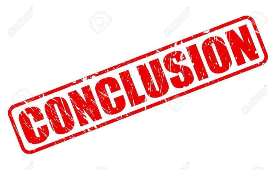 Conclusion - Kyusho Jitsu World Weekly News