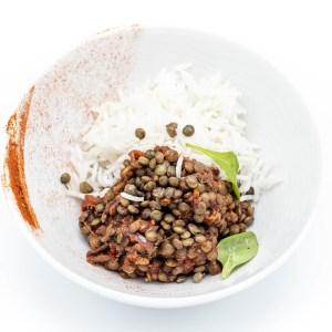 Mijautée de lentilles / épices tandoori