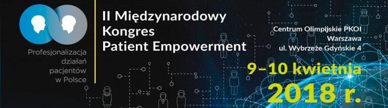 Professor M. Czekajlo is a guest speaker on the 2nd International Congress of Patient Empowerment, Warsaw