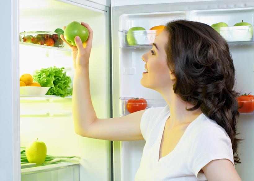 fridge with food
