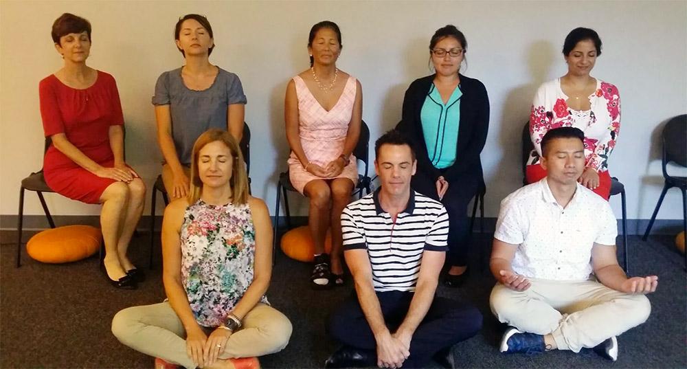 AHF Alliance Healthcare FOundation Mindfulness meditation staff
