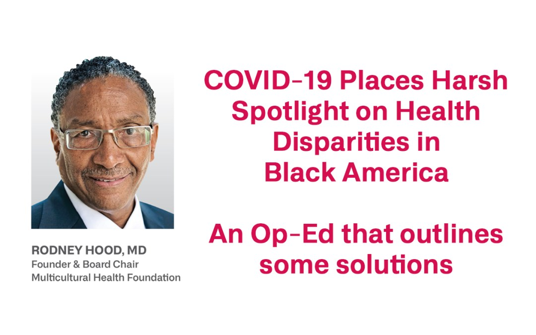 Commentary: Why so many black Americans are dying from COVID-19 and how to make health care equitable
