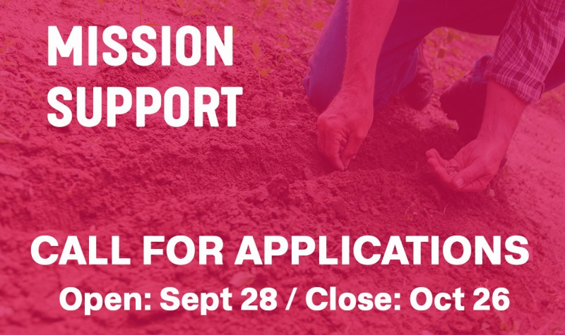 mission support/call for applications