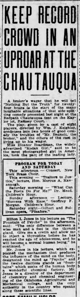 The Alliance Review, August 19, 1921