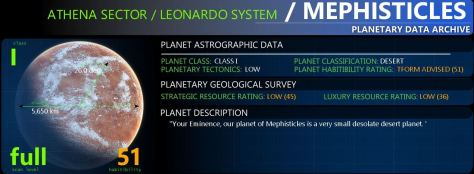 Your main planetary information display. Always displayed on any scanned planet.
