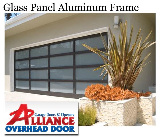 Glass Panel Aluminum Frame Garage Door