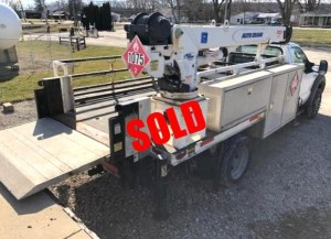 Ford F550 crane truck sold
