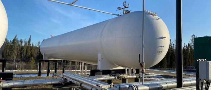 Used 30,000 gallon LP storage tank