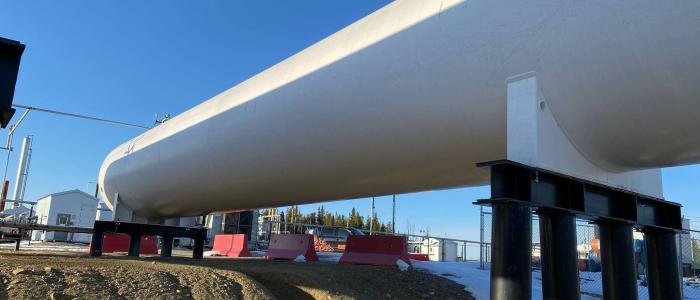 Used 30,000 gallon propane bulk storage tank