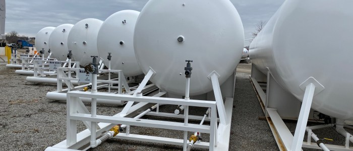 18,000 gallon LP skid tanks
