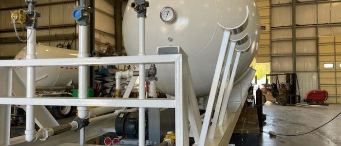 18,000 gallon skidded bulk storage