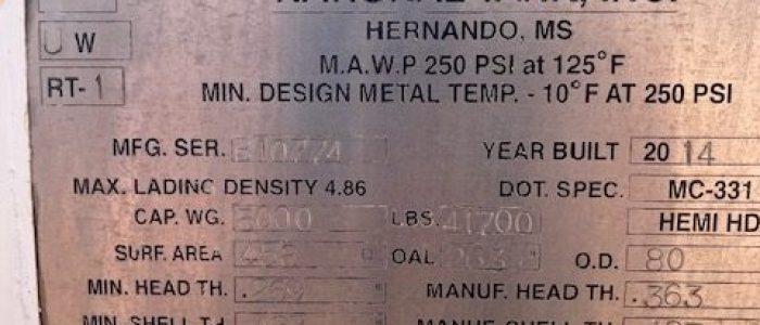 Used 5000 gallon propane bobtail