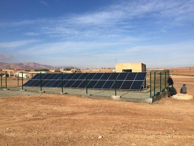 panneaux photovoltaïque pour pompage solaire