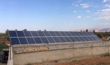 installation pompage photovoltaïque variateur pompe SAER 7.5ch Maroc