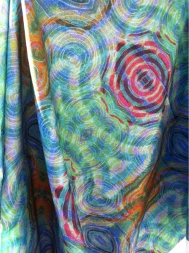 Draped Ripple Fabric
