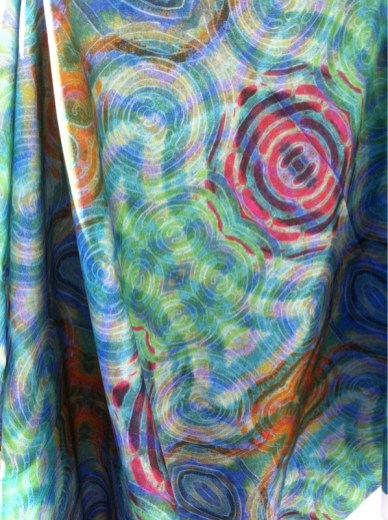 Draped Ripple Fabric