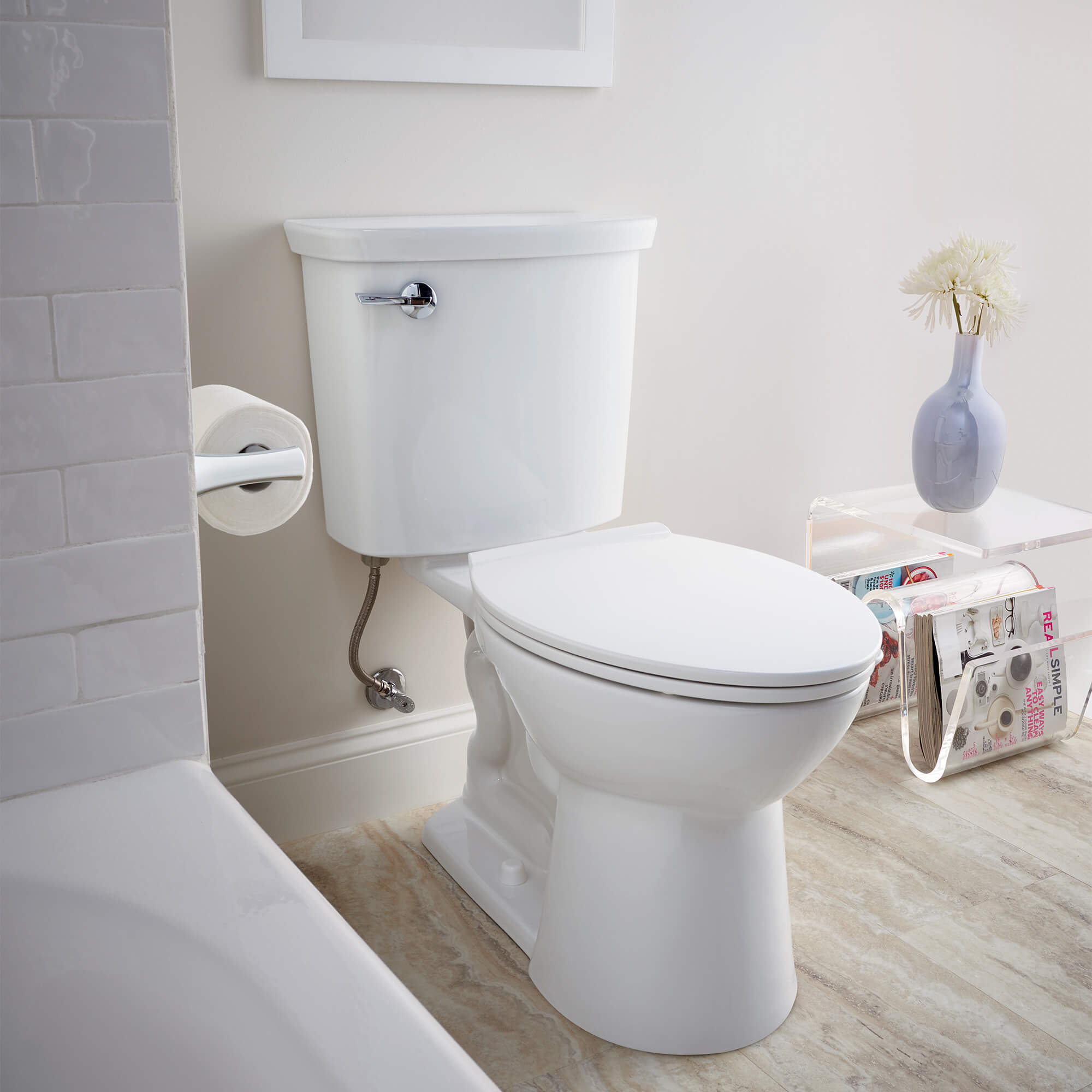 American Standard VorMax High Efficiency Right Height Elongated Toilet With Left Hand Trip Lever