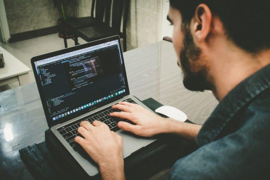 image of man at computer