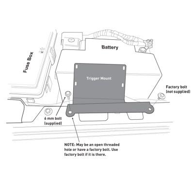 TRIGGER Jeep JL Underhood Controller Bracket-Inner Fender Diagram