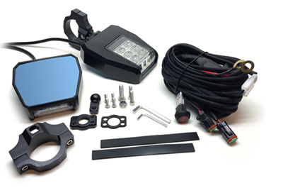 UTV Side Mirrors with Integrated LED Lights