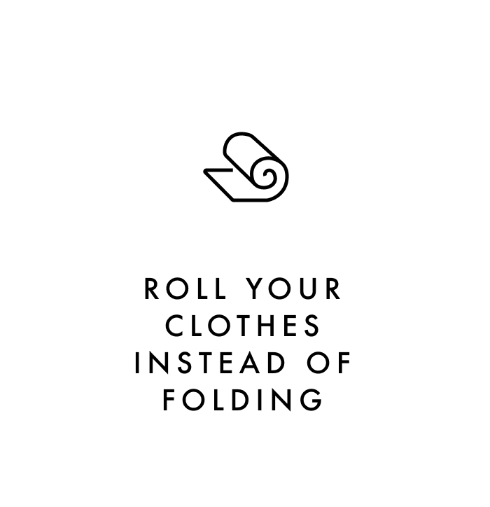 Carry on packing tip #3: Roll your clothes instead of folding