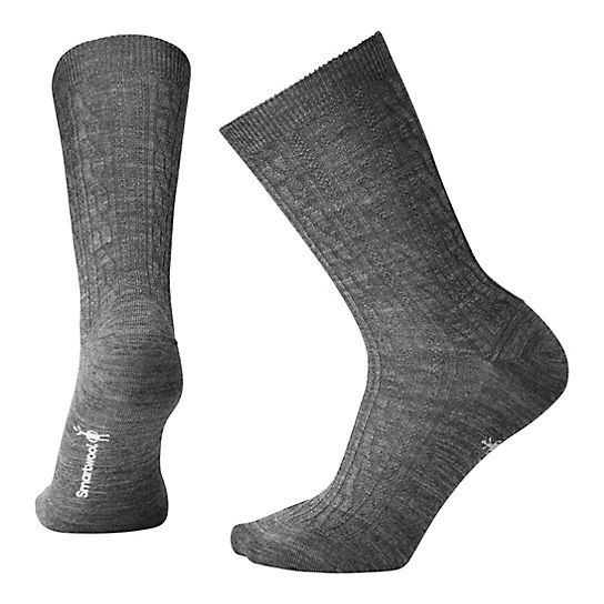 Wool Grey Crew Hiking Socks