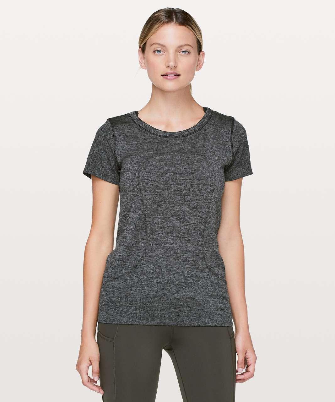 Lululemon Grey short sleeve workout shirt