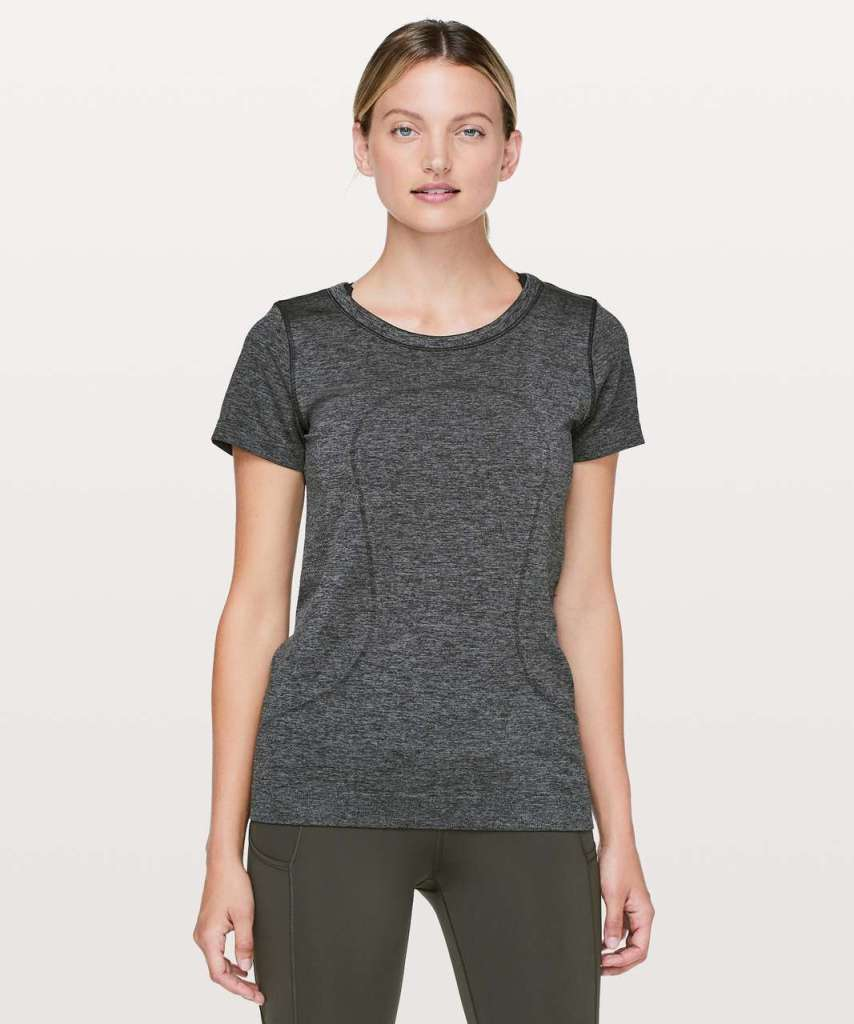 Lululemon Grey short sleeve workout shirt