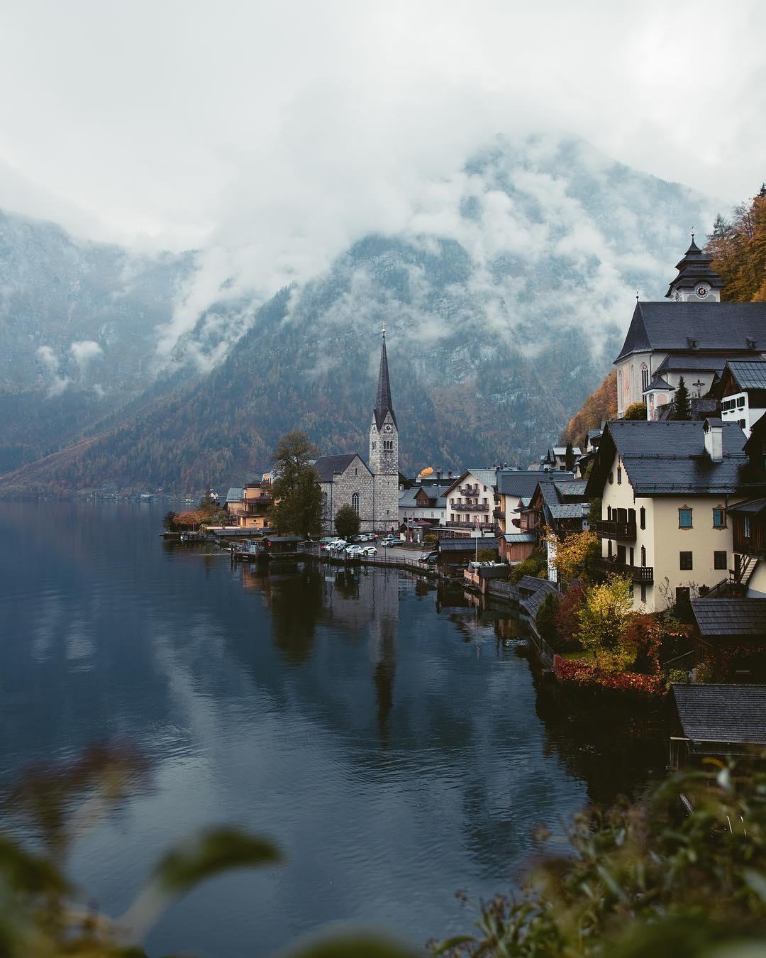Hallstatt Austria in the fall