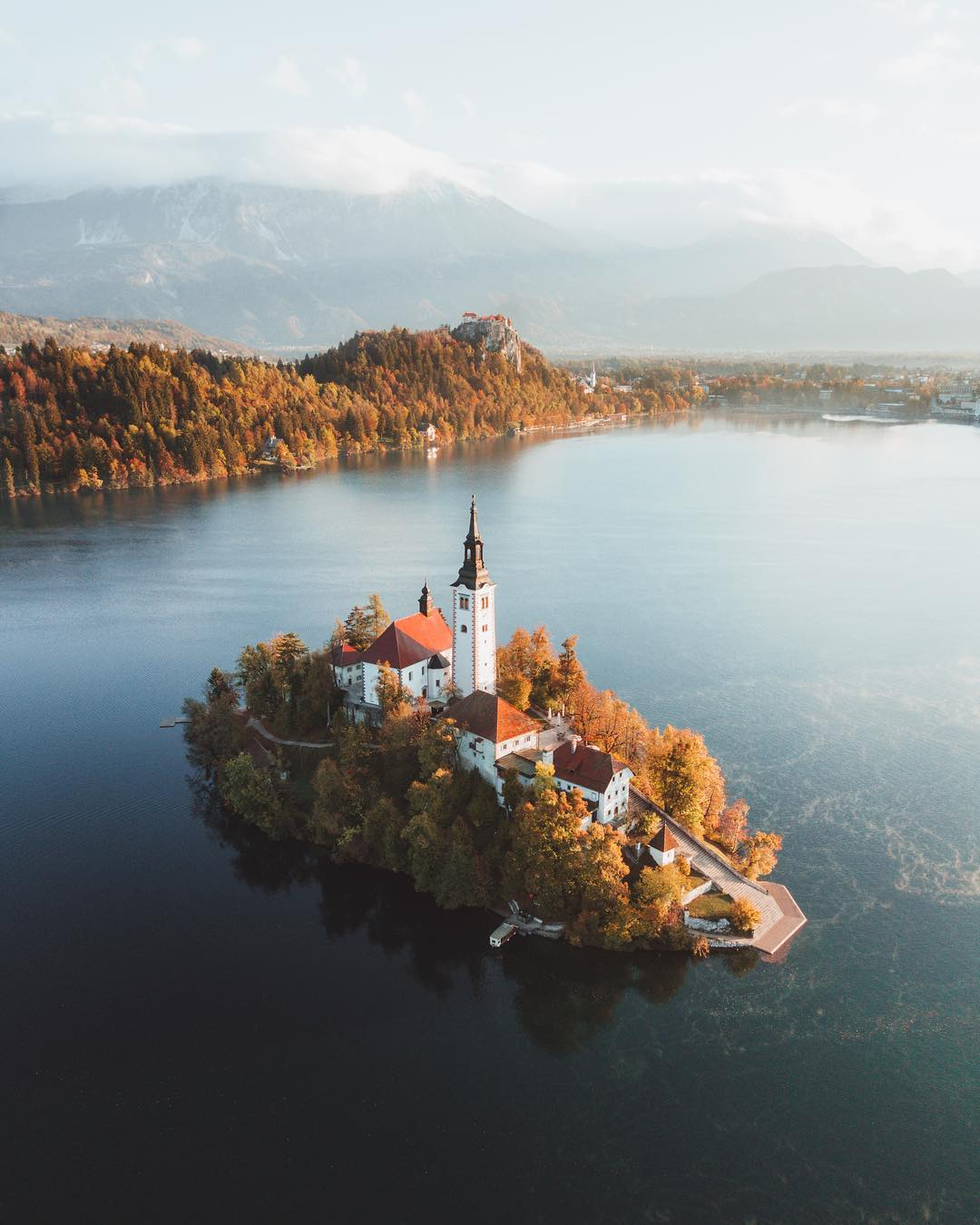 Lake Bled Slovenia in the fall