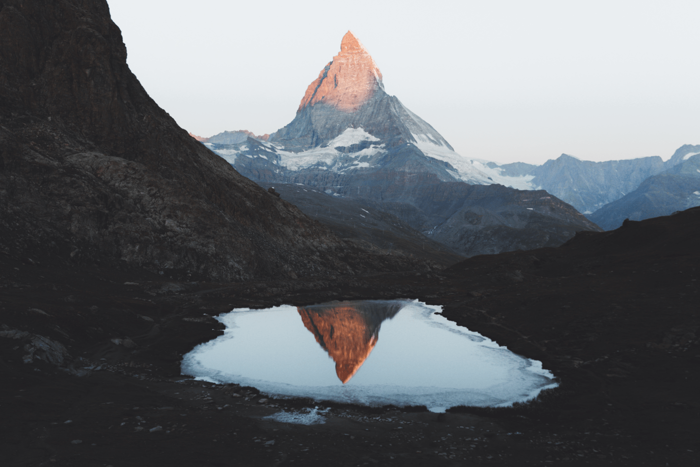 Reflection of the Matterhorn in Riffelsee