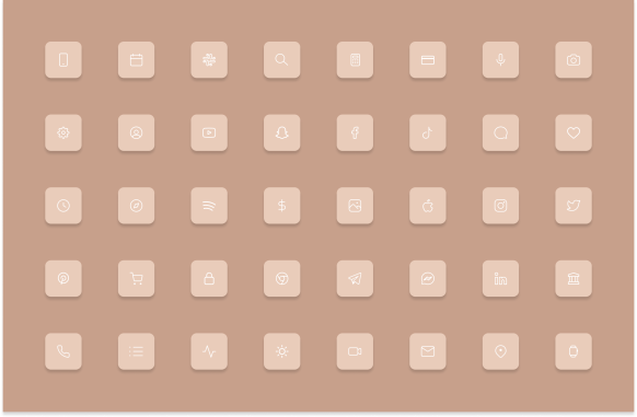 iOS 14 pink icons homescreen
