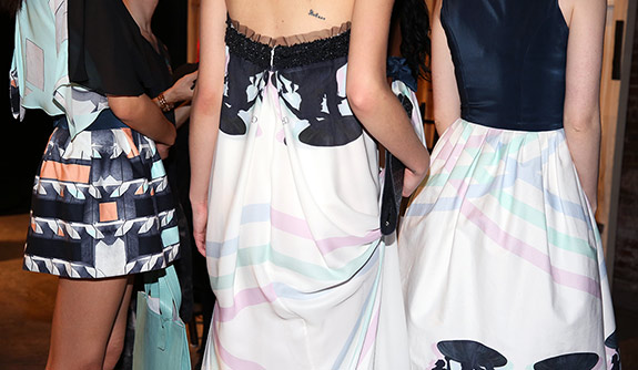 """[dropcap custom_class=""""normal""""]Y[/dropcap] es it is post Fashion Week here in New York and all the attention has moved across the pond, but what a Fashion Week it was. One of things I love about Fashion Week besides you know, the obvious—oodles and oodles of fashion, is getting to discover up and coming designers. So in this weeks Lookbook Friday we will be looking at the Spring/Summer 2015 Collection from Charles & Ron"""