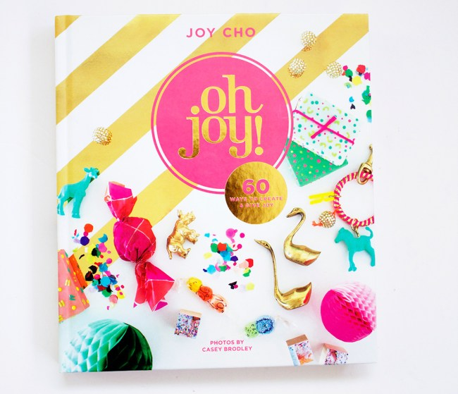 On my last trip to DUMBO Brooklyn which I wrote about in this post, I stopped in to West Elm where I spied this super fun and creative book from the blogger Joy Cho of the blog Oh Joy. How could I resist? It is chock full of colorful, inspirational and unique ideas for you to make your life more fun and more colorful.