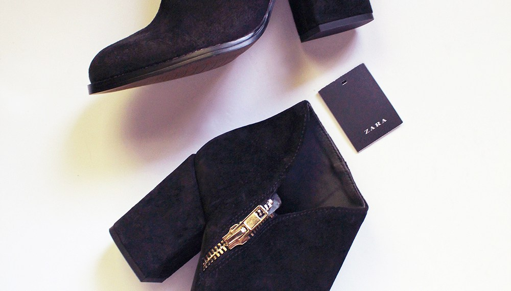 Zara Suede Booties Just in Time for NYFW