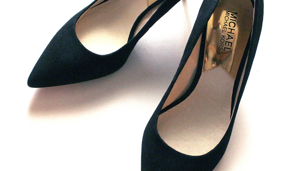 Michael Kors Kitten Heeled Black Suede Pumps Such a Chic Investment