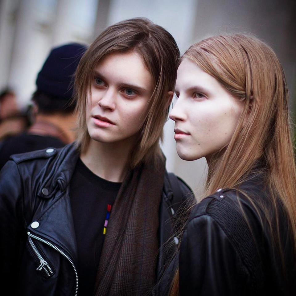 Models outside the shows PFW gearing up for February inhellip
