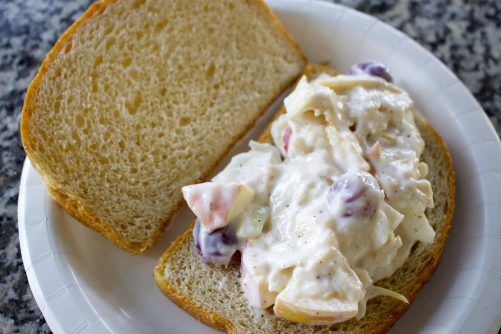 chicken salad, greek yogurt chicken salad, easy healthy chicken salad