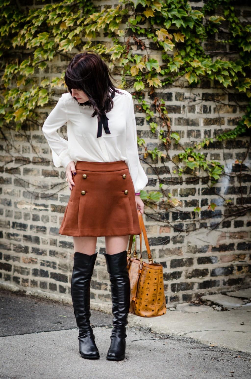 Express Sailor Skirt + Bow Blouse