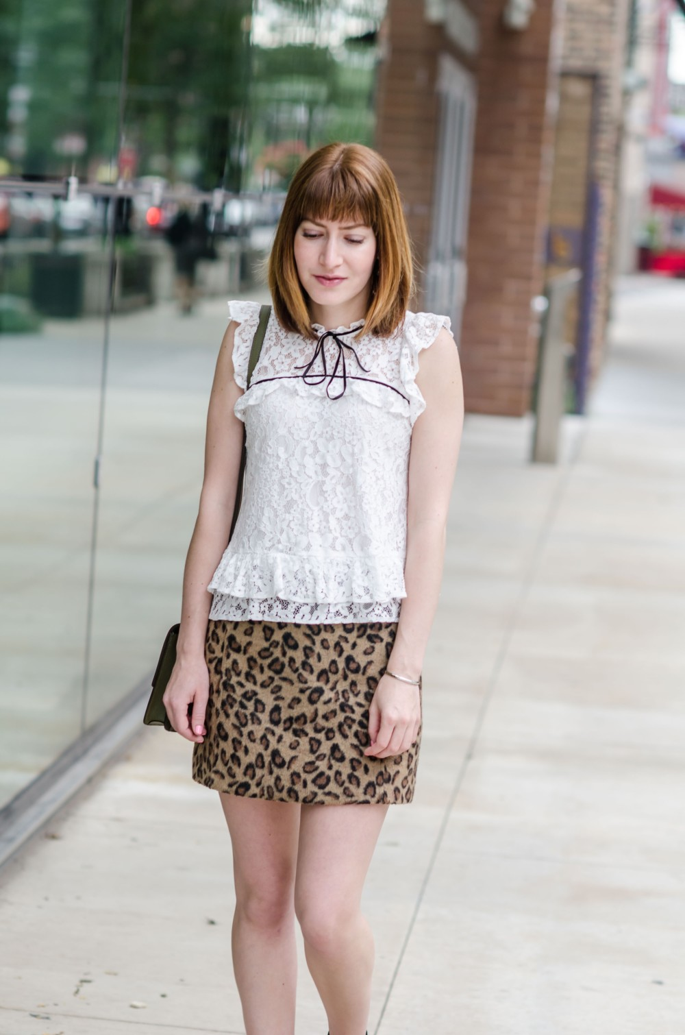 Topshop Lace and Animal Print