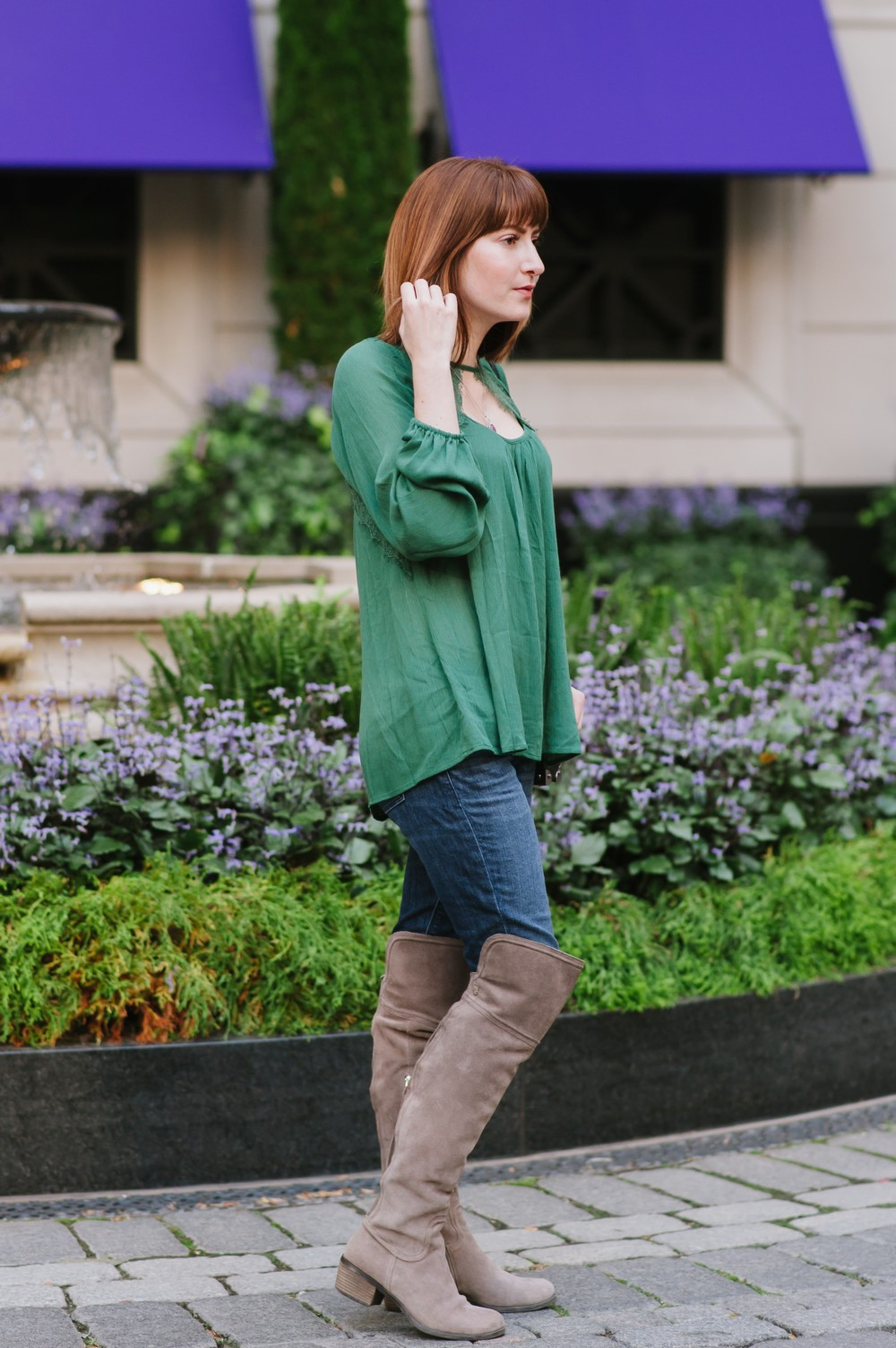 Celizzione Lace Neckline Top + Giveaway