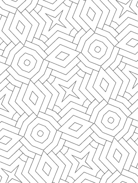 Shapes within shapes within shapes... Just for you. Grab this geometric patterh coloring book today.