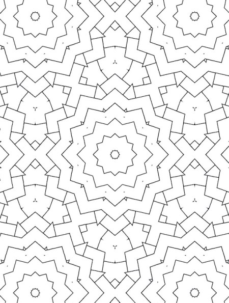 Like ripples in a particularly geometric pond. Grab this intricate geometry coloring book and color your way through an abundance of stunning, maze-like coloring patterns, your way.