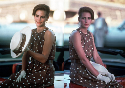 Julia-Roberts-Pretty-Woman-polka-dot-dress