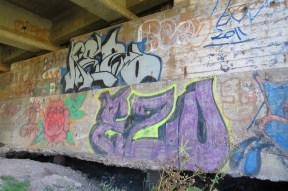 Under an overpass