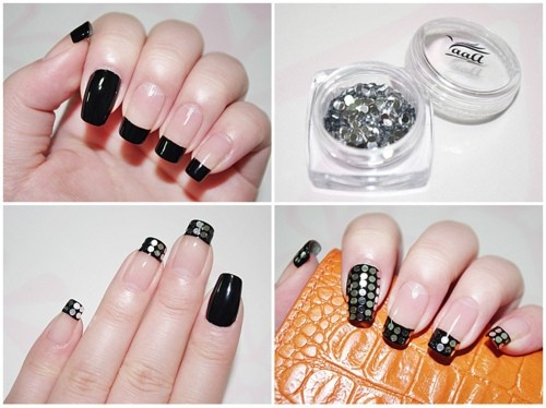 Rheinstone Nail Art Tutorial With Plete Steps
