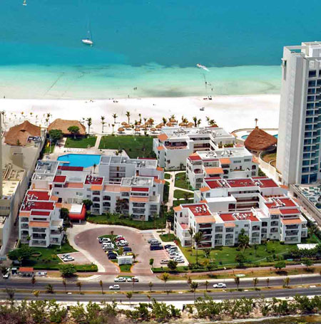 Beachscape Kin Ha Villas and Suites aerial view